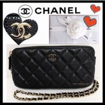CHANEL MATELASSE Calfskin Bag in Bag 3WAY Chain Plain Elegant Style