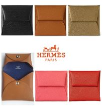 HERMES Bastia Leather Coin Purses