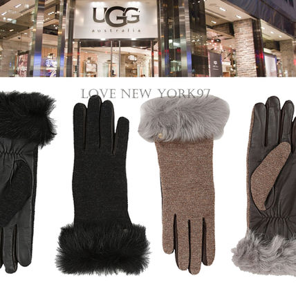 Suitable for smart Tuscan fur fluffy cashmere gloves