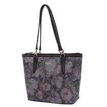 kate hill Stripes Flower Patterns Faux Fur Elegant Style Totes