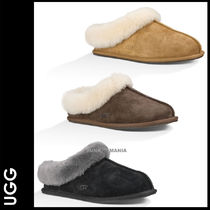 UGG Australia MORAENE Plain Toe Casual Style Sheepskin Plain Slippers