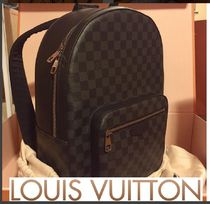 Louis Vuitton Monogram Canvas Street Style A4 Backpacks