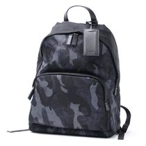 PRADA Camouflage Nylon A4 Backpacks