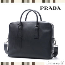 PRADA A4 2WAY Leather Business & Briefcases