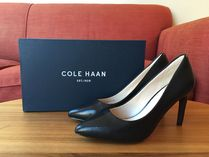 Cole Haan Plain Toe Plain Leather Office Style High Heel Pumps & Mules