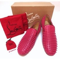 Christian Louboutin ROLLERBOY Studded Leather Loafers & Slip-ons