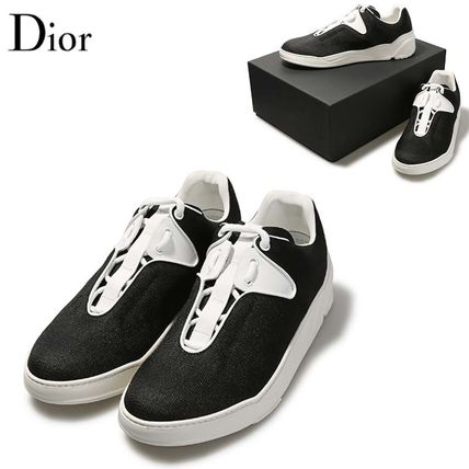 ... DIOR HOMME Sneakers Plain Leather U Tips Sneakers ...