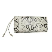6126 by Lindsay Lohan Faux Fur Python Clutches