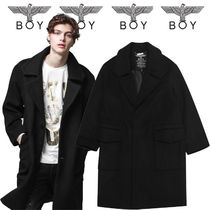 BOY LONDON Wool Studded Long Duffle Coats