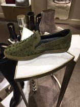 Jimmy Choo Star Suede Studded Street Style Leather Logo Sneakers