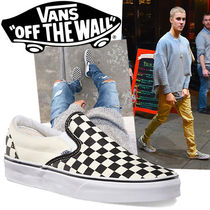 VANS SLIP ON Gingham Street Style Bi-color Loafers & Slip-ons
