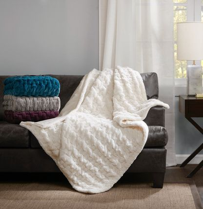 Ultra soft faux leather throw / blanket