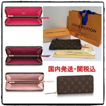 Louis Vuitton MONOGRAM Monogram Unisex Leather Long Wallets