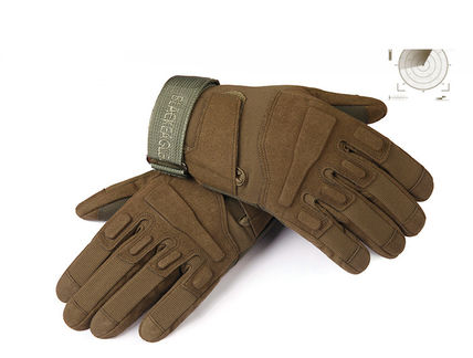 Men's outdoor sports tactical gloves fluffing