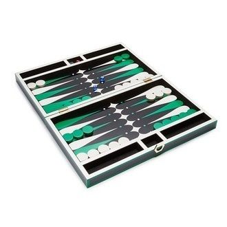 Check Backgammon set (black / green)