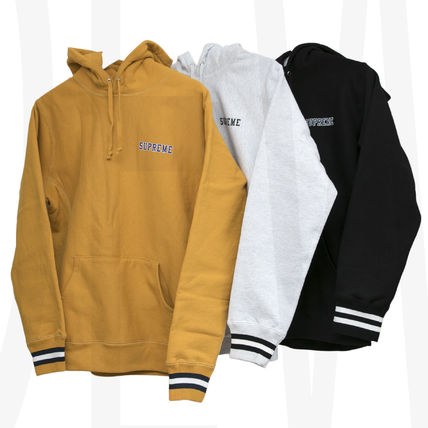 Sent with Supreme Striped Cuff Hooded Sweatshirt Supreme