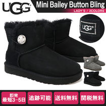 UGG Australia BAILEY BUTTON Rubber Sole Fur Boots Boots
