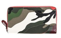 VALENTINO Camouflage Street Style Leather Long Wallets
