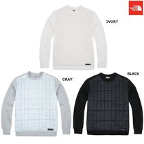 THE NORTH FACE Crew Neck Argile Stripes Low Gauge Street Style Long Sleeves