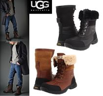 UGG Australia Mountain Boots Plain Leather Outdoor Boots