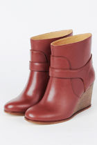 MM6 Maison Margiela Leather Wedge Boots