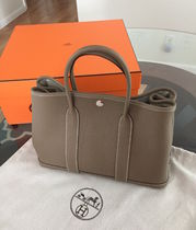 HERMES Garden Party A4 Leather Totes