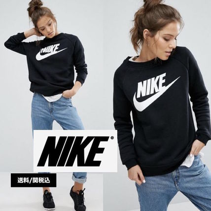Nike Crew Neck Casual Style Sweat Long Sleeves