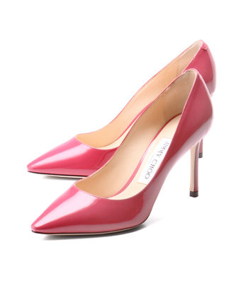 JIMMY CHOO pointed toe pumps pink ROMY