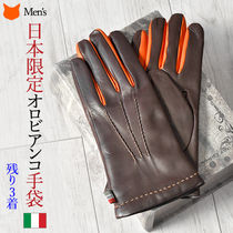 OROBIANCO Leather Leather & Faux Leather Gloves