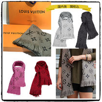 Louis Vuitton MONOGRAM Monoglam Wool Elegant Style Heavy Scarves & Shawls