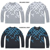 THE NORTH FACE Crew Neck Dots Low Gauge Street Style Long Sleeves Plain