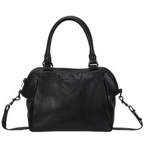 STATUS ANXIETY Unisex A4 2WAY Plain Leather Office Style Totes