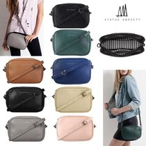 STATUS ANXIETY Casual Style Street Style Plain Leather Shoulder Bags