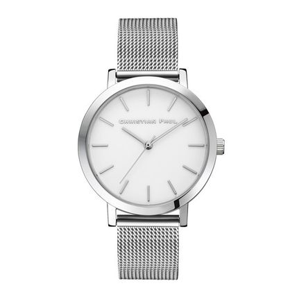 Casual Style Round Quartz Watches Stainless Bridal