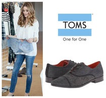 TOMS Rubber Sole Leather Loafer & Moccasin Shoes
