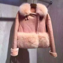 Short Fur Plain Fur Leather Jackets Cashmere & Fur Coats