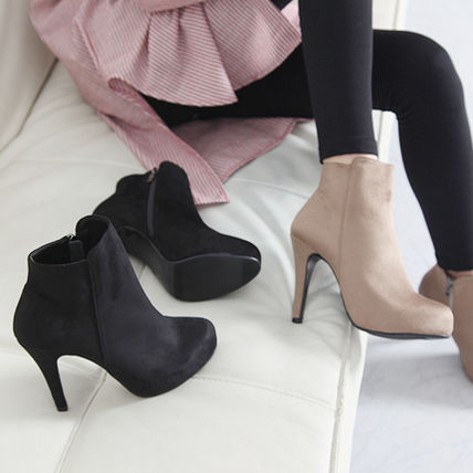 Ankle & Booties Suede over 10cm Pin Heels Ankle & Booties Boots 2