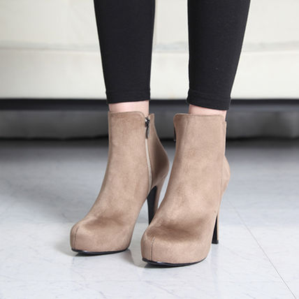 Ankle & Booties Suede over 10cm Pin Heels Ankle & Booties Boots 6