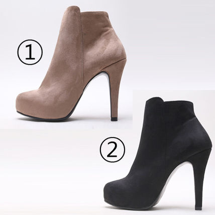 Ankle & Booties Suede over 10cm Pin Heels Ankle & Booties Boots 8