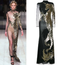 alexander mcqueen 16-17 AW AM 092 LO 35 UNICORN EMBELLISHED GOWN