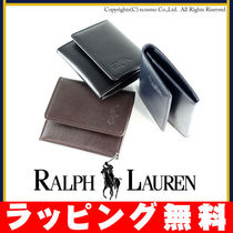 Ralph Lauren Plain Leather Coin Cases