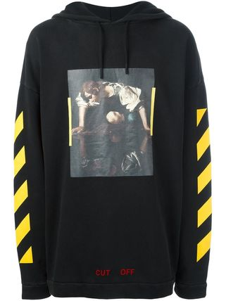 OFF WHITE 16 AW NARCISO HOODIE BLACK