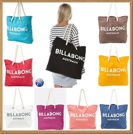 Casual Style Canvas A4 Plain Oversized Totes