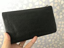 MiuMiu Plain Leather With Jewels Elegant Style Clutches
