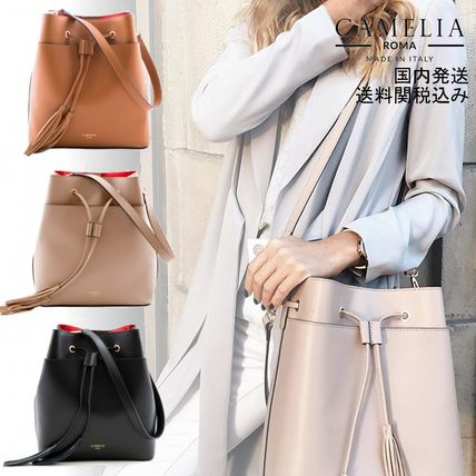 Tassel Plain Leather Purses Elegant Style Shoulder Bags