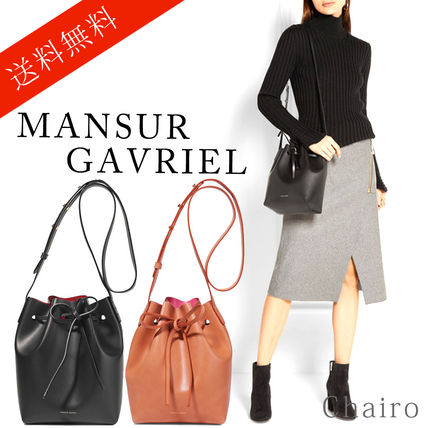 MANSUR GAVRIEL Plain Leather Purses Shoulder Bags