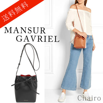 MANSUR GAVRIEL Plain Leather Purses Handbags