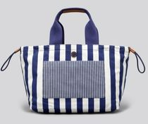 Marc by Marc Jacobs Stripes Casual Style Canvas A4 Totes