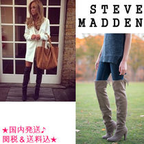 Steve Madden Round Toe Suede Plain Over-the-Knee Boots