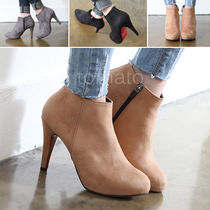 Suede over 10cm Pin Heels Ankle & Booties Boots